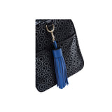 MISCHA Leather Tassel - Blue (close-up)