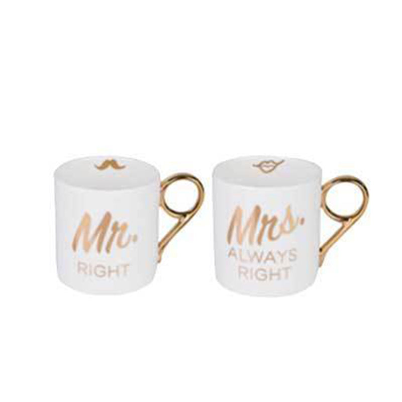 MISCHA x iDecorate Mr & Mrs Right Mugs