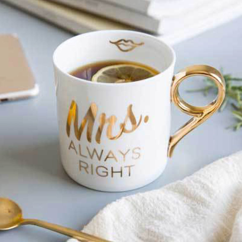 MISCHA x iDecorate Mr & Mrs Right Mugs (Mrs. mug in lifestyle)