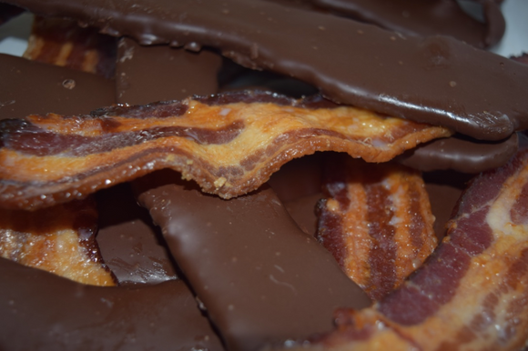 Chocolate Covered Candied Bacon
