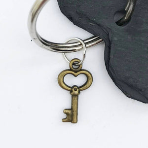 Slate Heart Key Ring