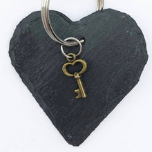 Load image into Gallery viewer, Slate Heart Key Ring