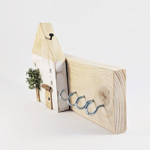 Rustic Pallet Wood Key Holder for Wall  - Personalised Gift