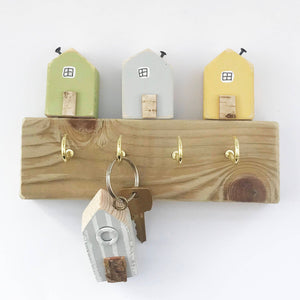 Houses Key Hook Key Holder for Wall New Home Gift