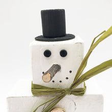 Load image into Gallery viewer, Wooden Stacking Snowman