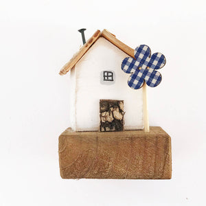 Tiny Wooden House Ornament