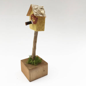 Handmade Miniature Bird House Ornament