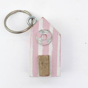 Wooden Key Ring Beach Hut Key Rings for Her