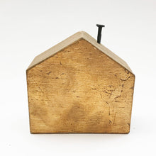 Load image into Gallery viewer, Gold Gild Wooden House - 50th Anniversary Gift