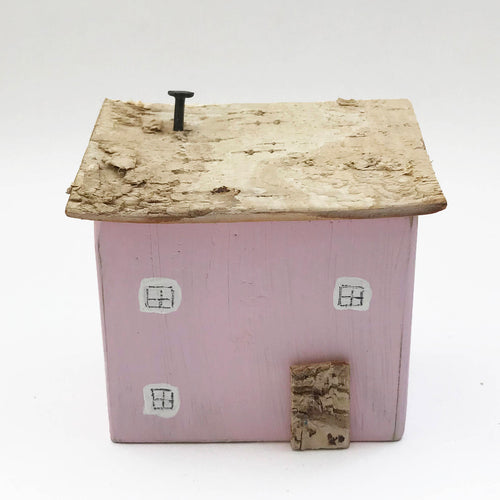 Small Painted Pink Wood House