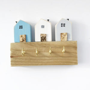 Miniature House Key Holder, Key Holder for Wall, Key Hooks, Key Rack, Wall Hooks, Key Hanger, Key Organiser, Wooden Wall Hook, Key Storage