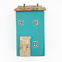 Load image into Gallery viewer, Miniature Blue Garden House Ornament