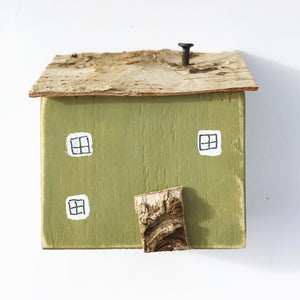 Wood Cottage House Ornaments for Living Room House Wood Decor