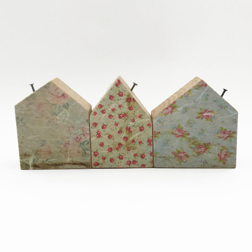 Decoupage Houses Reclaimed Wood Houses for Decor