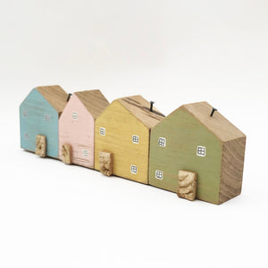 Wooden Houses Decor House Ornament New Home Gifts