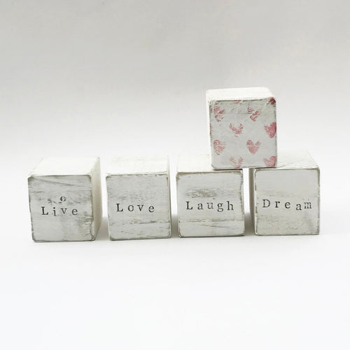 Wooden Word Blocks Home Accessories