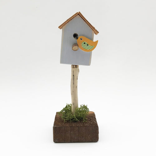 Tiny Handmade Bird House Ornament