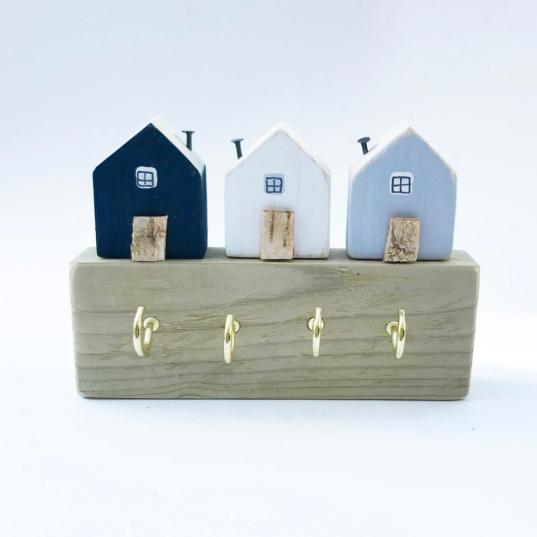 Little Wooden House Key Hooks, Key Hanger, Key Holder, Key Hooks, Key Organiser, Jewelry Organiser, Wall Decor, Entryway Organiser, Hooks