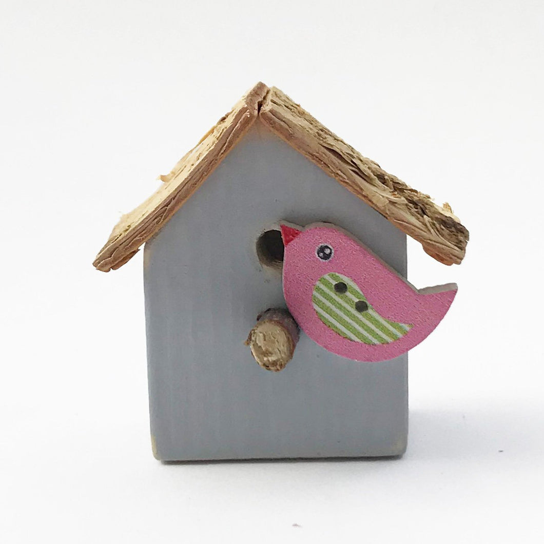Handmade Little Bird House Magnet