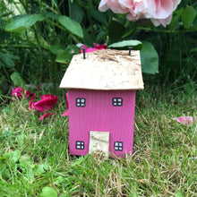 Load image into Gallery viewer, Pink Wooden Miniature House