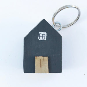 House Keychain Wood Tiny House Wooden Keyring