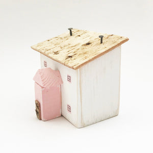 Pink Wooden Cottage Wooden Houses Ornaments