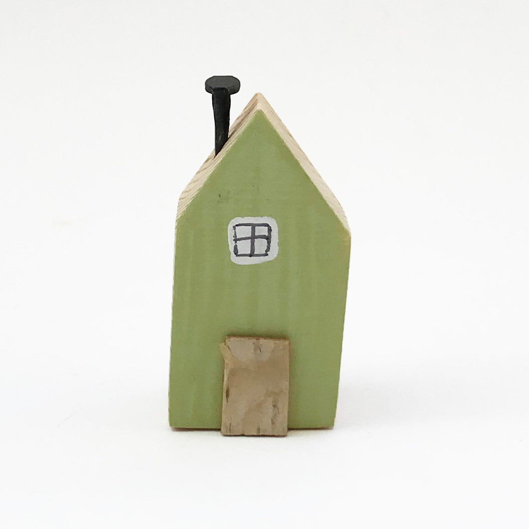 Green Miniature House Fridge Magnet