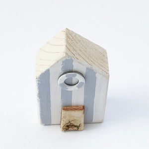 Beach Hut Handmade Magnet