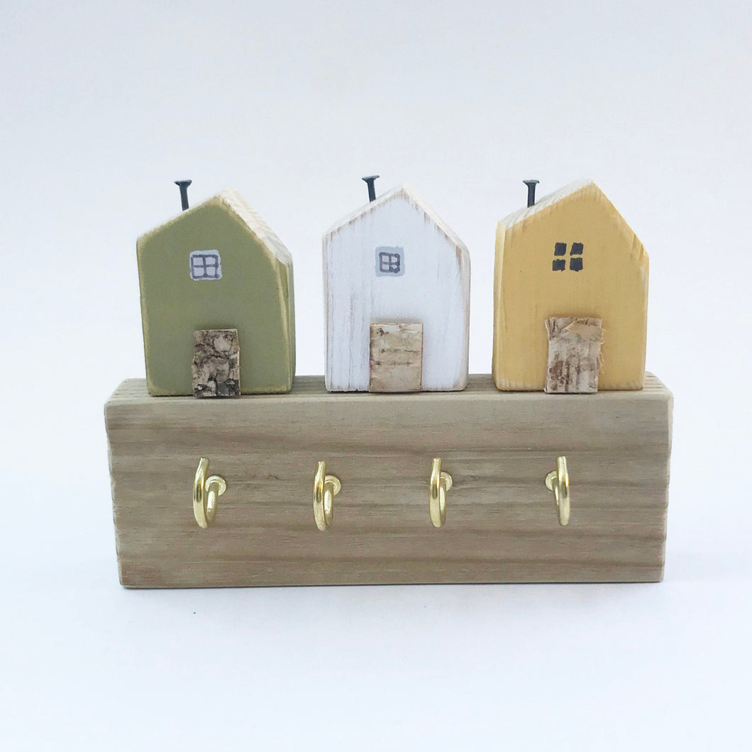 Key Holder with Tiny Houses Home Accessories