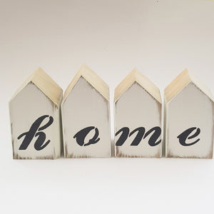 Home Block Sign Wooden Home Decor