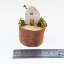 Load image into Gallery viewer, Miniature House on a Natural Log