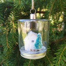 Load image into Gallery viewer, Christmas Cottage in a Jar Christmas Decorations Christmas Wooden House Christmas House Figurine Christmas Baubles Tree Decorations Ornament