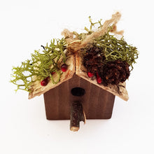 Load image into Gallery viewer, Miniature Rustic Wood Bird House
