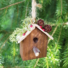 Load image into Gallery viewer, Rustic Bird House Christmas Miniatures Christmas Tree Decoration