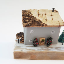 Load image into Gallery viewer, Wooden House Winter Scene Christmas Decoration