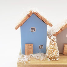 Load image into Gallery viewer, Mini Cottage Snow Scene Ornament