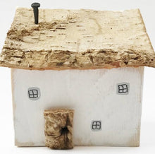 Load image into Gallery viewer, Cottage Wood House Wood Ornament - Painted in a colour of your choice