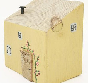 Wooden Yellow Decorative Cottage