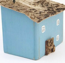 Load image into Gallery viewer, Blue Wooden Mini House