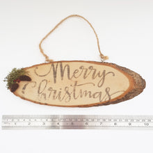 Load image into Gallery viewer, Natural Wood Christmas Sign