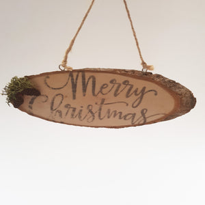 Christmas Decoration Wood Sign Farmhouse Style