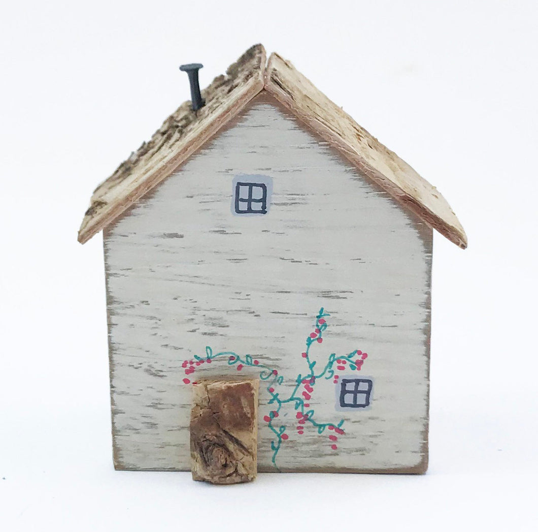Wood Miniature House Scandinavian Style Decor Friend Gift