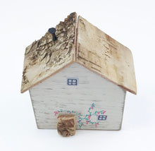 Load image into Gallery viewer, Wood Miniature House Scandinavian Style Decor Friend Gift
