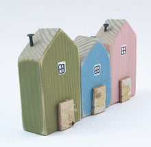 Load image into Gallery viewer, Houses in a Row for Shelf Wooden Houses Ornament Wood Decoration