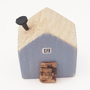Tiny Wooden House with Floral Decoupage Reverse Tiny Gift