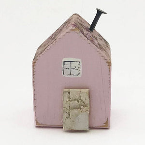Tiny Wooden House - Pink Floral
