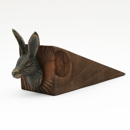 Rabbit Door Stop Wooden Door Stopper Country Home Decor