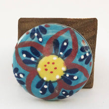 Load image into Gallery viewer, Blue Flower Pattern Door Stop