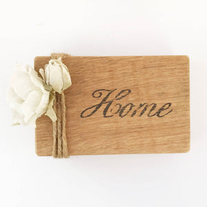 Home Wood Block Sign Shelf Decor