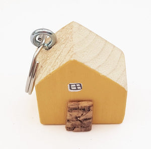 Yellow House Key Chain